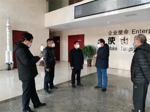 天津宝坻区副区长王智东一行检查安泰天龙疫情防控及复工复产情况