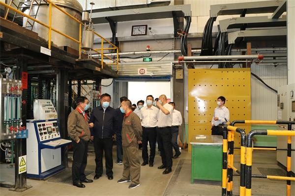 中国钢研集团李波总经理一行莅临安泰天龙检查指导安全生产工作