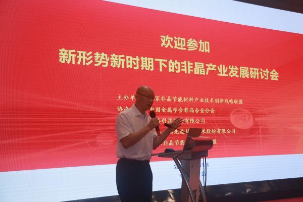 李军风董事长出席非晶产业发展研讨会